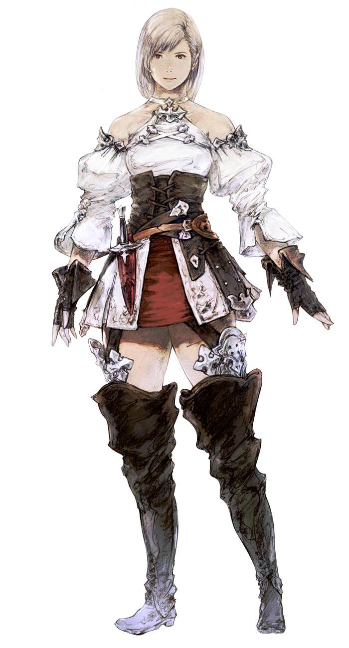 Hyur Female In Initial Gear Art Final Fantasy XIV A Realm Reborn Art Gallery