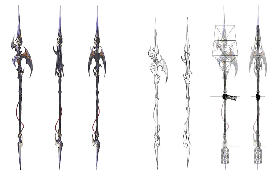 Spear Design Characters Amp Art Final Fantasy XIV A