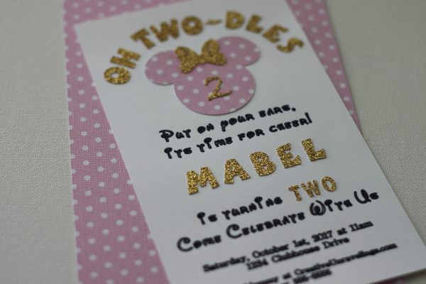 oh two dles birthday invitation