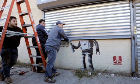 banksy closing the door
