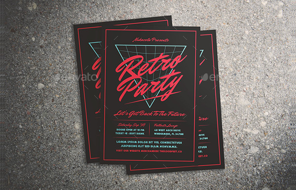 80's Music Flyer Template