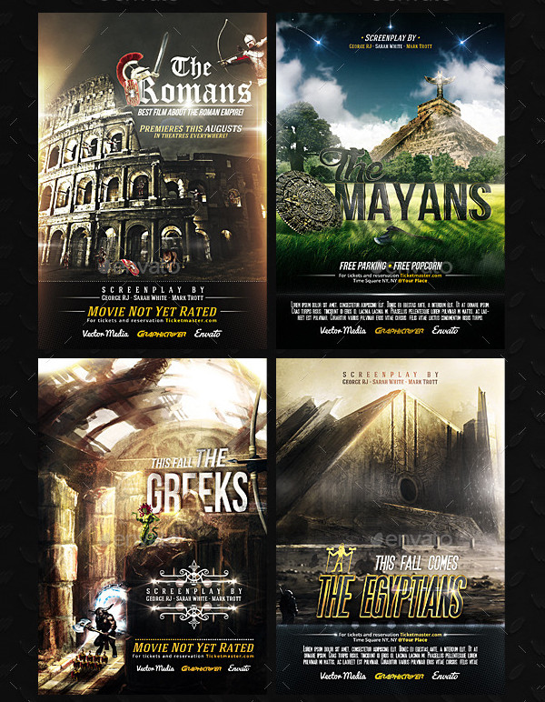 Ancient Civilizations Movie Posters Bundle