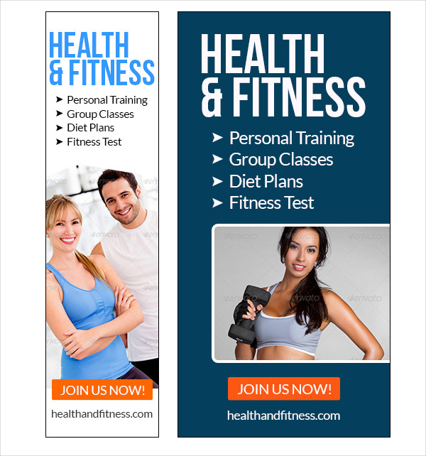 Health & Fitness Banner Templates