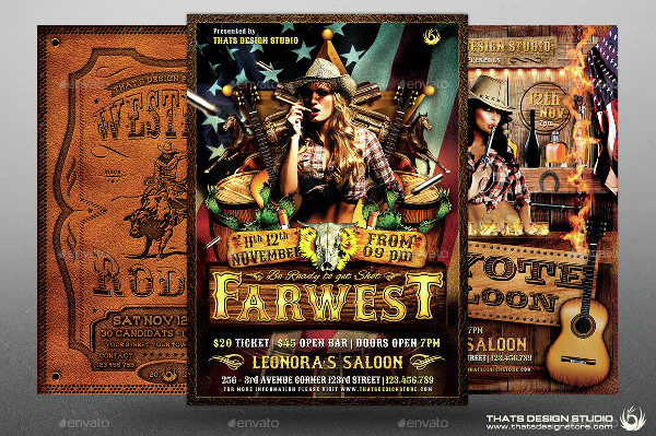Big Western Flyers Template Bundle