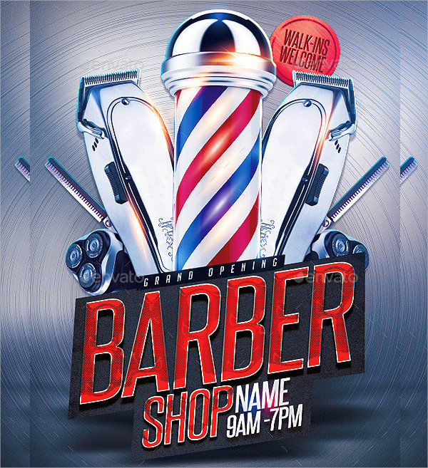 Barbershop Grand Opening Flyer