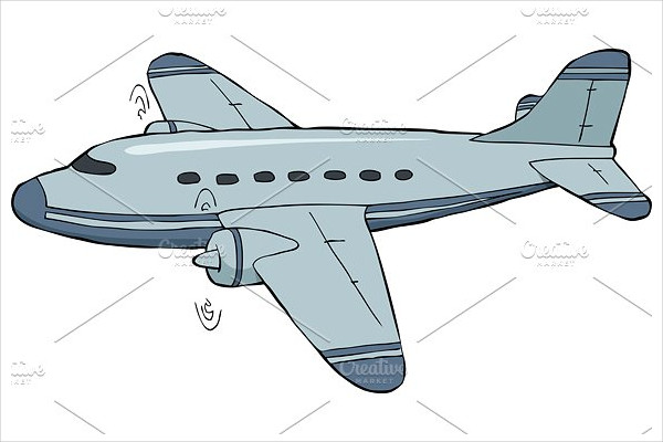 Cartoon Airplane Drawings