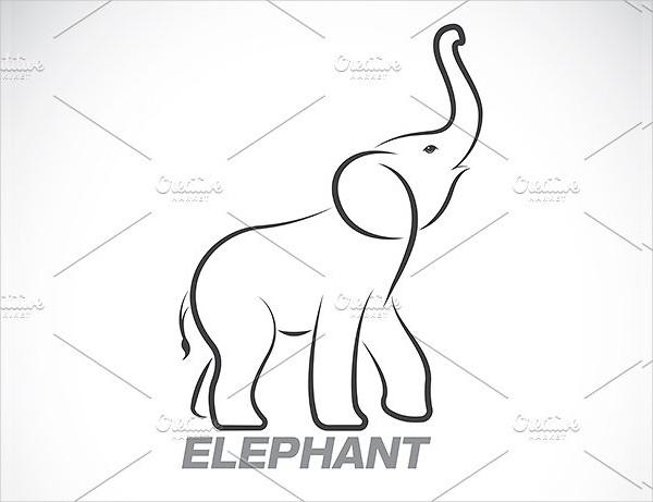 Vector of an Elephant Design