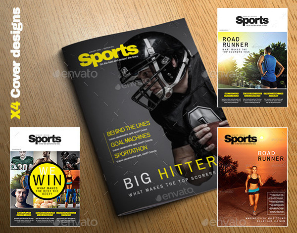Extreme Sports Magazine Template