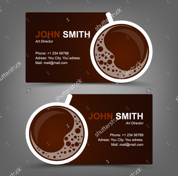 Creative Business Card for Coffee Restaurant