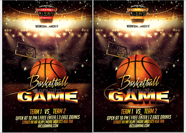 Basketball Game Flyers Template