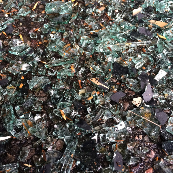 Close Up of Broken Glass Background