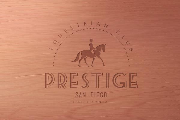 Horse Club Vintage Logo Template