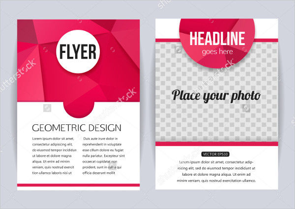 Geometric Design Flyer for Business