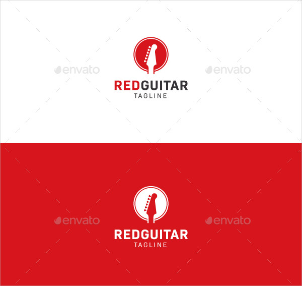 Red Guitar Store Logo