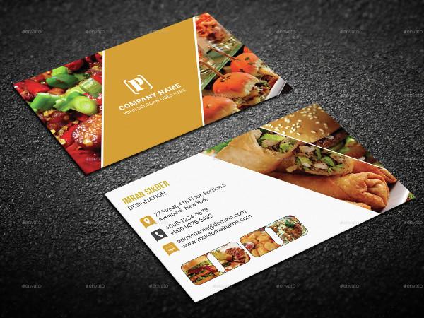 Restaurant Menu & Business Card Templates