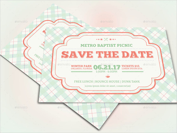 Retro Picnic Invitation Flyer Templates
