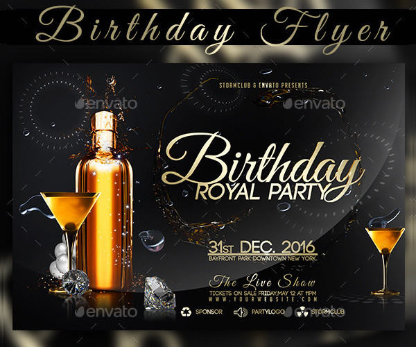 Royal Birthday Party Flyer Sample