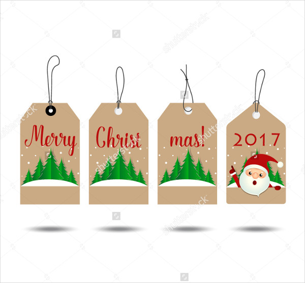 Christmas & New Year Tag Templates