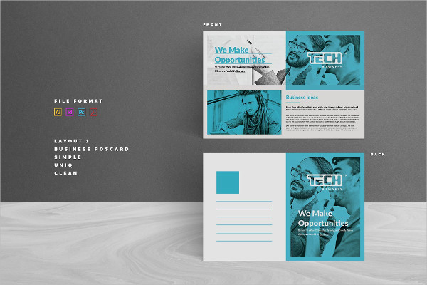 Simple Business Postcard Template