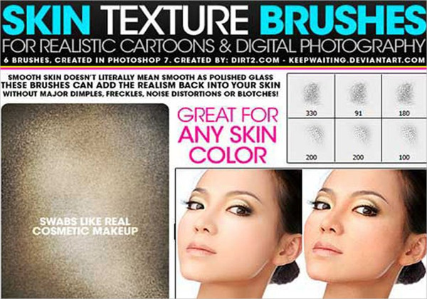 Skin Texture Brush Pack Free Download