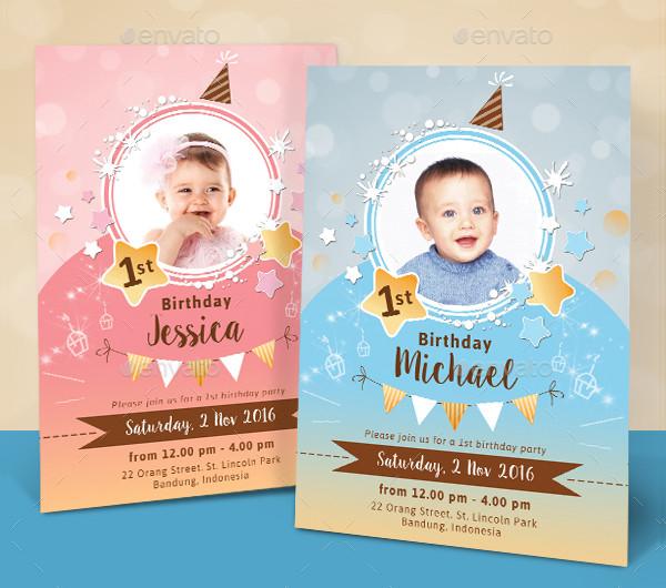 Sparkling Kids Birthday Invitations