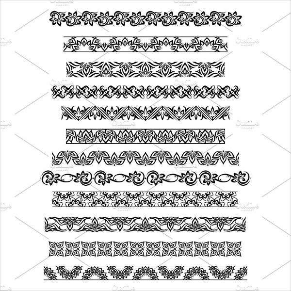 Thai Ornament Border Patterns
