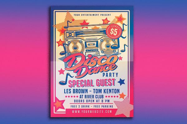 Unique Dance Party PSD Design