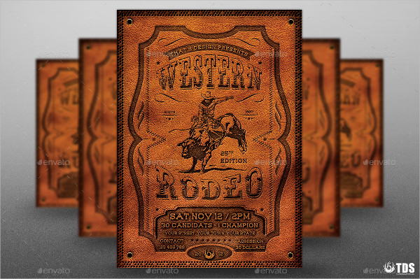 Rodeo Photoshop Flyer Template