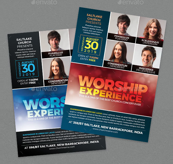 Worship Experience Church Concert Flyer