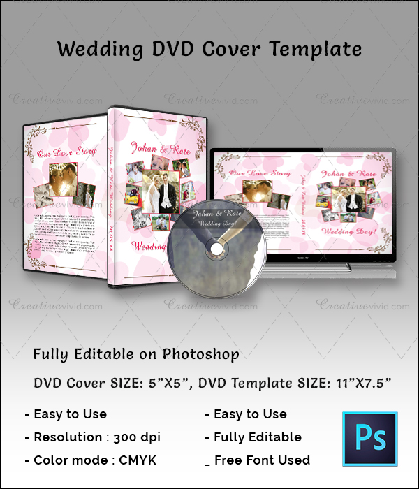 Attractive Wedding DVD Cover Download