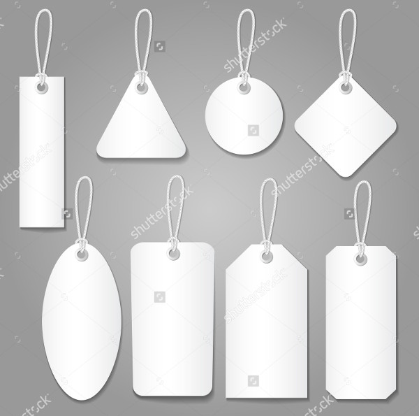 Blank Label Template & Price Tags Set