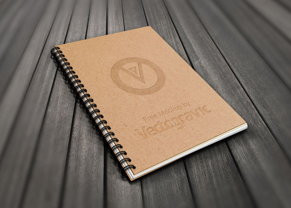 Free Spiral Book Mock-Up