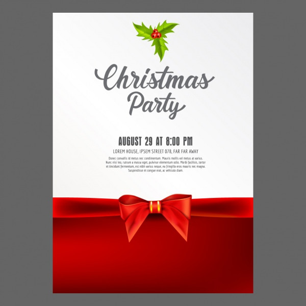 Christmas Party Card Design Free