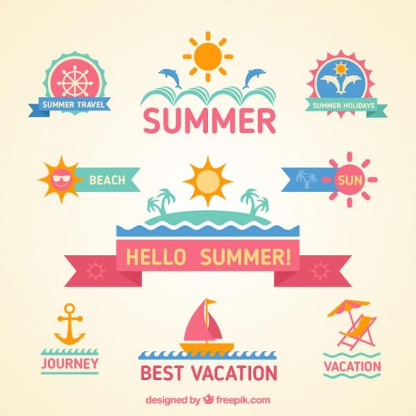 Free Colorful Summer Badges Download