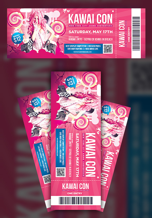 Convention Ticket Template