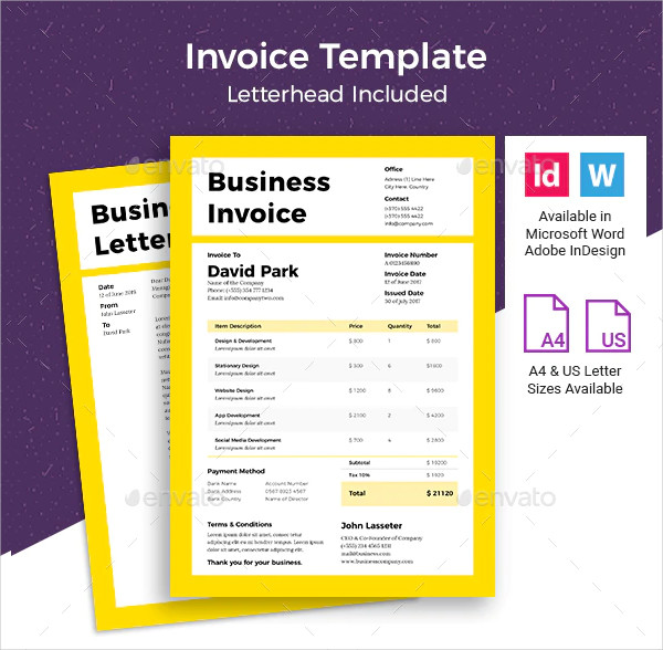 Corporate Business Invoice Template