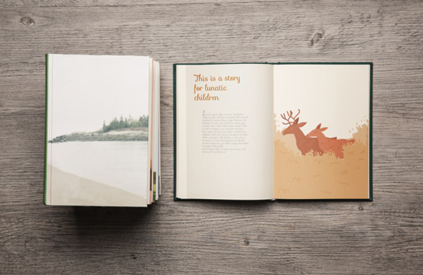 Decorative Book Mock-up Free PSD