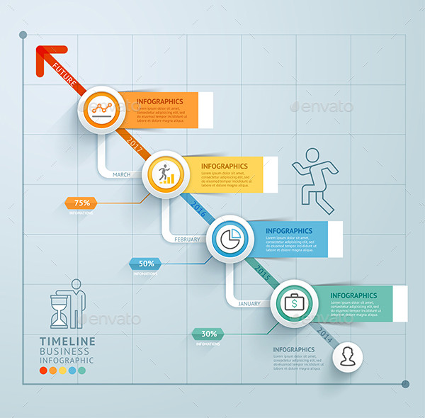 PSD Business Timeline Infographics Template