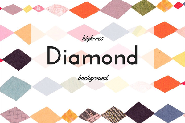 Bold Colored Diamond Collage Backgrounds