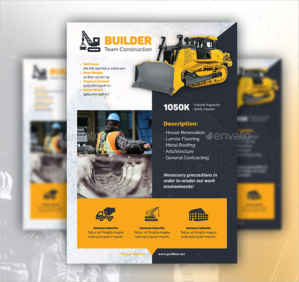 Construction Team Flyers Template