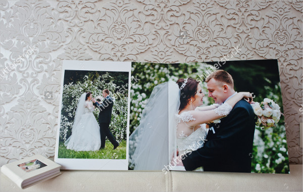 Dual Pages of Wedding Album or Wedding Book