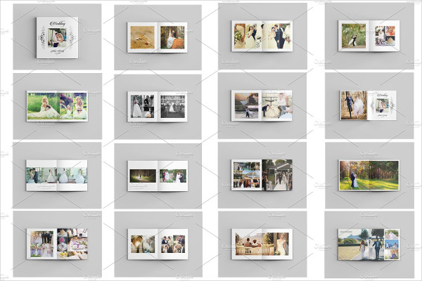Editable Wedding Photo Album Templates