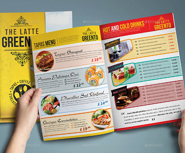 Elegant Cafe & Restaurant Menu Template