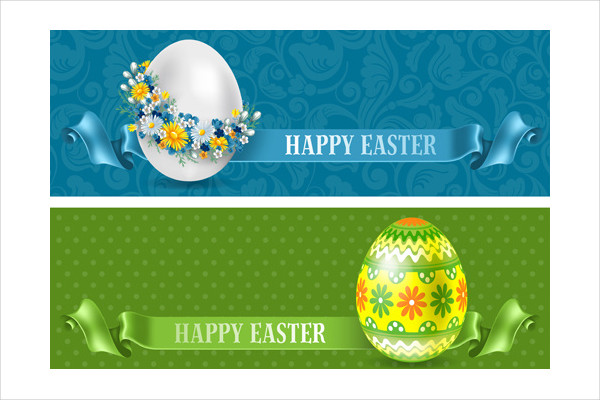 Flower Egg and Easter Banners Free