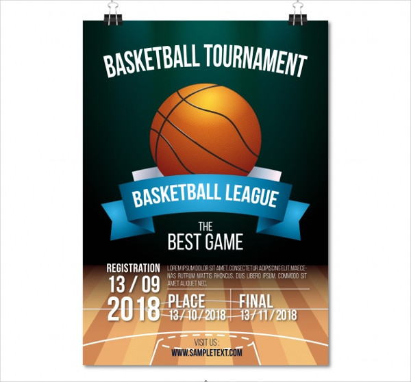 Free Basketball Tournament Poster Design