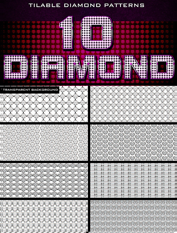 10 Diamond Patterns for Photoshop
