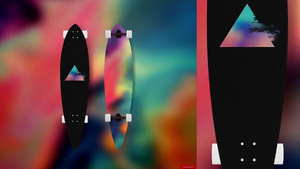 Long Board Skateboard Design Template
