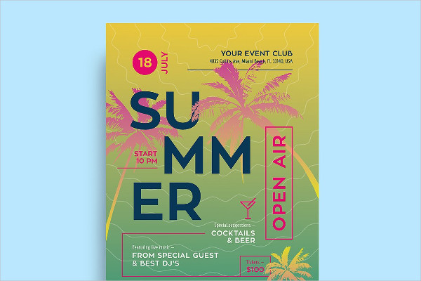 Print Ready Summer Flyer or Poster Template