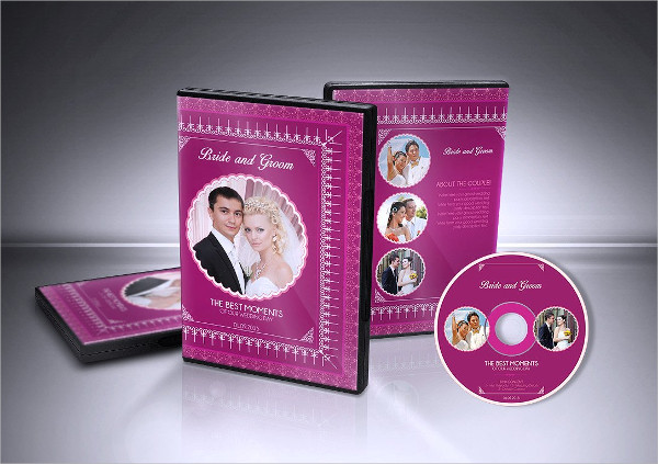 Modern Wedding DVD Covers & CD Label Template
