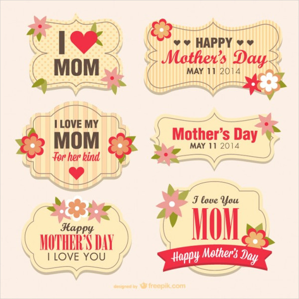Mother's Day Flower Banners Free Vector